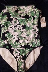 Nautica Green Floral Size 12